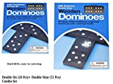 Double Six Dominoes,Double Nine Dominoes, Combo Set.double 6 dominoes and double 9 dominoes by C&H