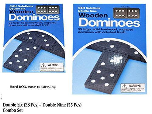 Double Six Dominoes,Double Nine Dominoes, Combo Set.double 6 dominoes and double 9 dominoes by C&H by C&H Solutions