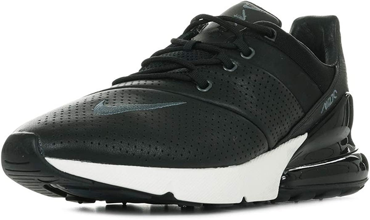 Nike Air Max 270 Premium Leather Men s Running Shoes BQ6171 001 9 D M US , Black White Anthracite