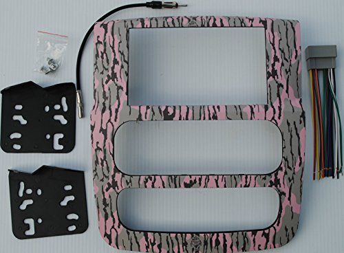 Dodge Ram 2002-2005 Double Din Aftermarket Radio Stereo Installation Dash Kit Mossy Oak Pink Bottomland Pattern