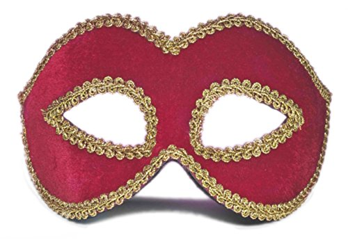 Forum Novelties Women's Velvet Masquerade Mask, Red, One Size