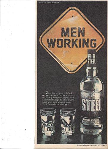 (**PRINT AD** For Steel Schnapps Men Working Double Shot Scene)