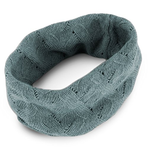 Women's 100% Cashmere Infinity Scarf Snood - Light Gray - made in Scotland by Love Cashmere RRP 150