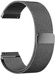 Pulseira Metal Milanês 20mm Para Relógio Xiaomi Huami Amazfit Bip Preto