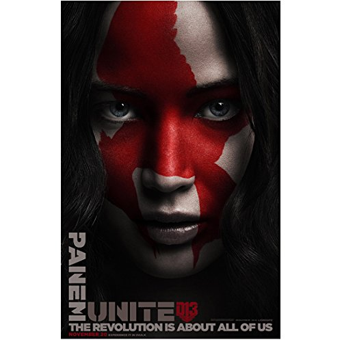 The Hunger Games: Mockingjay (Part 2) 8x10 Inch Photo Jennifer Lawrence w/Red Mockingjay on Face