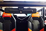 16.5'' Extra Wide Panoramic Rear View Mirror for 2015+ Polaris 570 w/ Lock n Ride cab (NOT FOR ROUND ROLL BAR UNITS.)