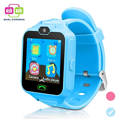 Kids Smart Cell Phone Watch,Smart Watch Phone Boys Girls SIM SD Slot,Unlocked Waterproof SOS Phone Watch Camera Games Touchscreen Children Cell Watch Holiday Birthday Gift from GUANLV