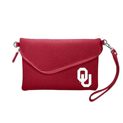 Oklahoma Sooners Purse - NCAA Oklahoma Sooners Pebble Fold Over Crossbody Purse