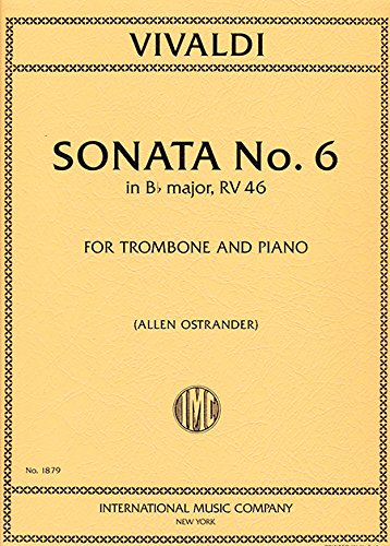 Download VIVALDI - Sonata en Sib Mayor nº 6 (RV 46) para Trombon y Piano (Ostrander) pdf