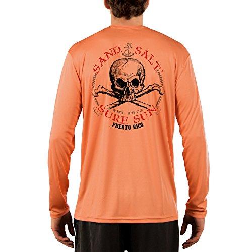 Puerto Rico Skull Men's UPF 50+ Performance T-Shirt Medium Citrus