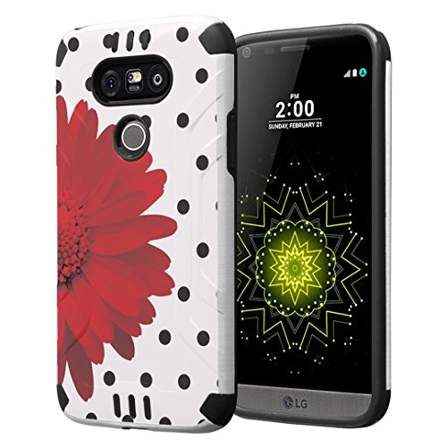 Tough Hybrid Dual Layer Case for LG G5 (Red) - 8