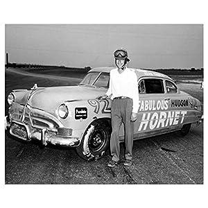 1952 Hudson Hornet NASCAR Race Car Factory Photo Herb Thomas