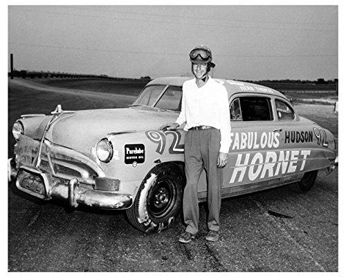 1952 Hudson Hornet NASCAR Race Car Factory Photo Herb Thomas from AutoLit