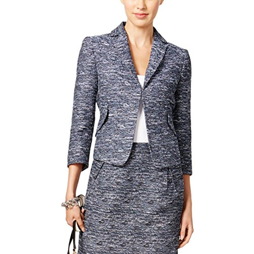 31328993 Tommy Hilfiger Womens Tweed Clasp-Front Casual Blazer Navy 10 - Buy Online  in Oman.   Apparel Products in Oman - See Prices, Reviews and Free Delivery  in ...