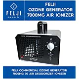 Felji Commercial Ozone Generator 7000mg 7g Air Deodorizer Ionizer 120 Minute Timer