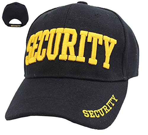 First Class Security Cap with ID On Front, Peak and Back (Gold Security ID)