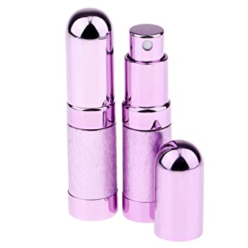 2pcs Portátil Botella de Atomizador de Perfume 6ml Tubo Recargable ...