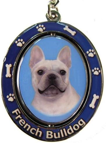 E&S Pets Francés Bulldog Llavero Spinning Mascota Clave Cadenas ...
