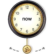 Now Clock Unique Yoga Gift, Yoga Studio Wall Art, Meditation Room Decor - with Om Ohm Aum Symbol