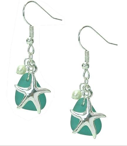 Sea theme acrylic bracelet and earrings