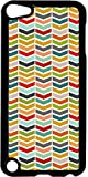 Colorful Sliced Chevrons- Case for the Apple Ipod 5th Generation-Hard Black Plastic