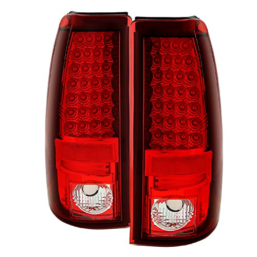 Red Spyder Housing Clear - Chevy Silverado 1500/2500 03-06 (Not Fit: Bran Door) / GMC Sierra 1500/2500/3500 04-06 (Fleetside only) LED Tail Lights - Red Clear