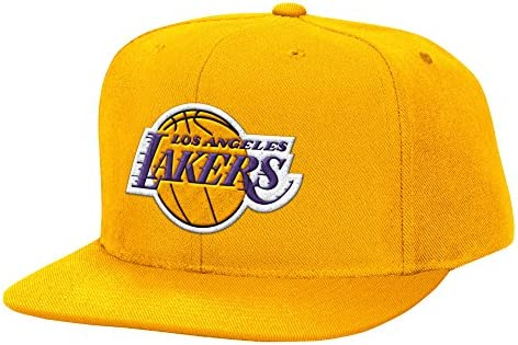 NBA Los Angeles Lakers Mitchell & Ness lana sólido ajustable Gorra ...