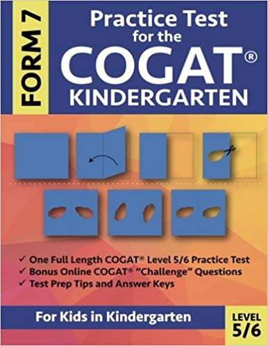 Amazon practice test for the cogat form 7 kindergarten level 5 level 56 gifted and talented test prep for kindergarten cogat kindergarten practice test cogat workbook for children in kindergarten gate fandeluxe Gallery