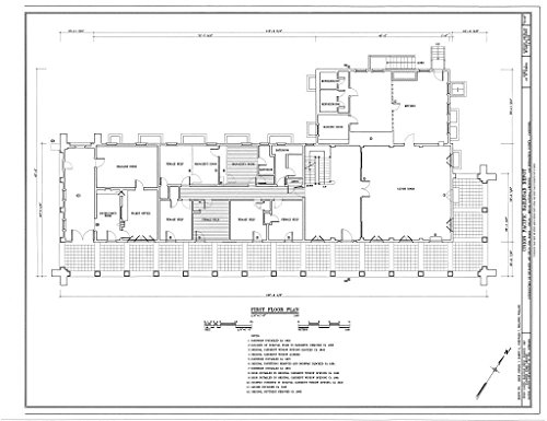 (historic pictoric Blueprint Diagram HABS Cal,36-Kelso,1- (Sheet 4 of 10) - Union Pacific Railroad Depot, Intersection of Kelbaker & Kelso CIMA Roads, Kelso, San Bernardino County, CA 14in x 11in)