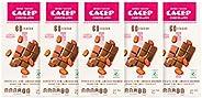 CACEP   Chocolate Orgánico Semi Amargo 60% cacao   5 Pack barras de 85g c/u   Sin lácteos   Vegano   Snack Sal