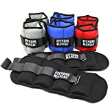 Adjustable Strap Ankle Wrist Weights Fitness Training Leg Exercise 4lbs 6lbs 8lbs 10lbs (4)