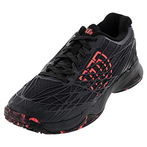 (Wilson KAOS All Court Tennis Shoe Mens - Ebony/Black/Fiery Coal 8 D(M) US)