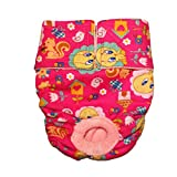 Barkertime - Made in USA - Tweety Bird on Pink Washable Cover-up / Diaper, S for Dog Incontinence, Housetraining and Females in Heat