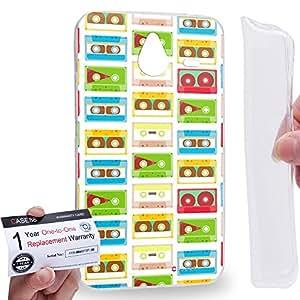 Case88 [Nokia Lumia 640XL] Gel TPU Carcasa/Funda & Tarjeta de garantía - Art Fashion Compact Cassette Compact Cassette A Art2621
