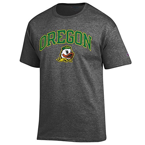Elite Fan Shop 16853_DH_ARCH Oregon Ducks Men's Short Sleeve Arch Tee Shirt, Dark Heather, XX Large