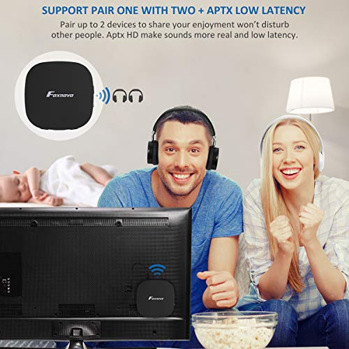 Foxnovo Bluetooth Receiver,bluetooth 5.0 Transmitter For Tv With Digital Optical Toslink, 2-in-1 Audio Bluetooth Adapter With Aptx Hd Low Latency & 3.5mm Aux Adapter For Headphone, Speakers, Pc