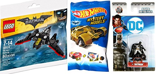 Hot Wheels 2017 Exclusive Blind Bag Mystery Model + DC Comics Lego Batman Batwing plane action vehicle & Mini Figure Metal Batman