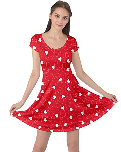 Hearts Dress - CowCow Womens Red Happy Valentines Day