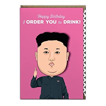 Famous Faces Funny Greetings Occasion Birthday Card Kim Jong Un