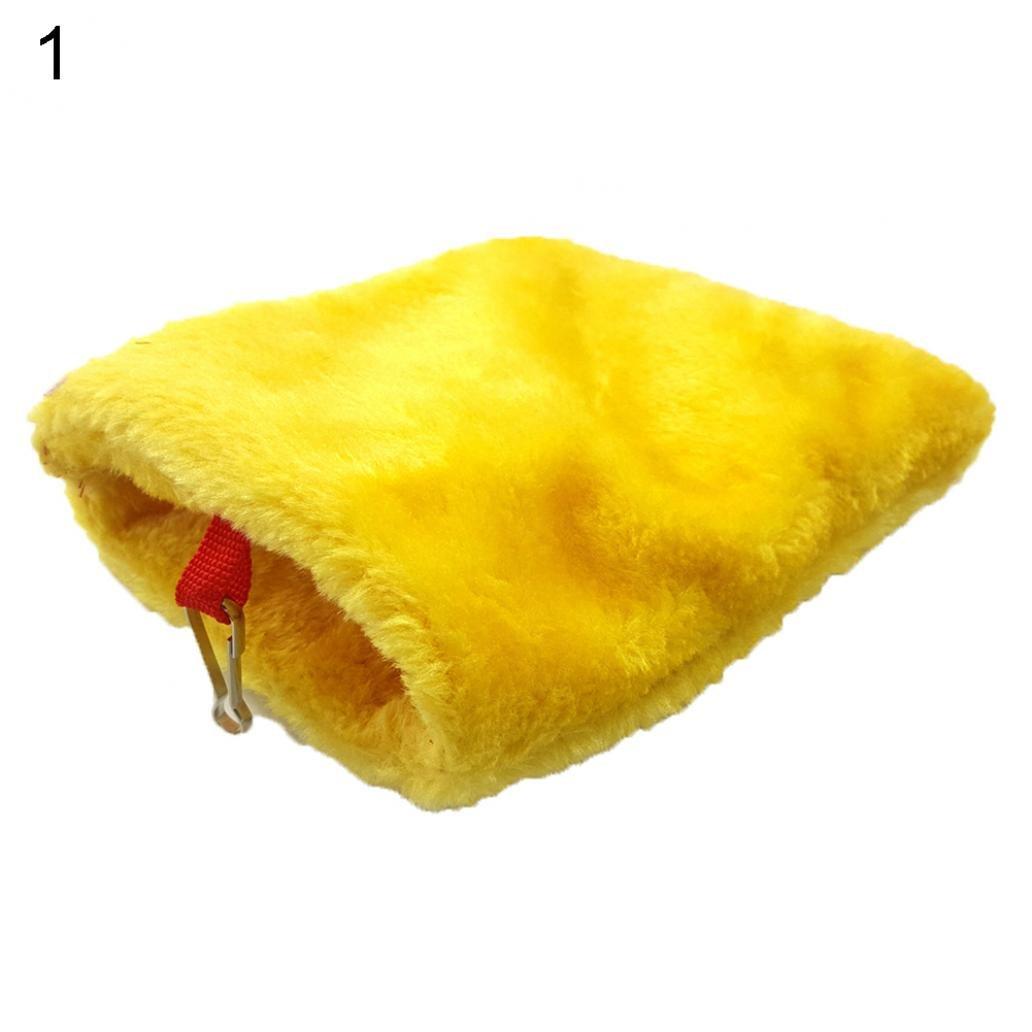 Steellwingsf Mini Caliente Hámster Erizo cobertizo Ardilla Pájaro Saco de Dormir Colgante Loro Nido Cueva
