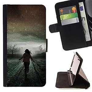 WINTER RUNNING SCARY GIRL LIGHT MEANING/ Personalizada del estilo del dise???¡Ào de la PU Caso de encargo del cuero del tir????n del soporte d - Cao - For LG Nexus 5 D820 D821