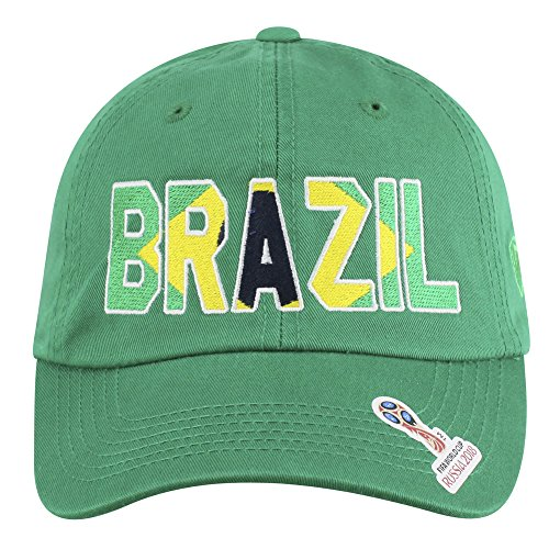 Elite Fan Shop Brazil 2018 World Cup Hat Green - Adjustable ()