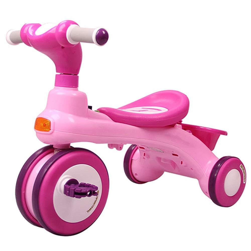 YUMEIGE 子ども用自転車 キッズ三輪車26年お誕生日おめでとうございますギフトプッシュ三輪車付荷重三輪車(積載重量50kg) 利用できるサイズ (色 : ピンク)  ピンク B07QJ3JW16