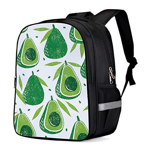 (Kids School Backpack for Children Organic Avocado Leaves Detox Antioxidant Lifestyle Print Durable Schoolbags Girls Boys Lightweight Daypack 13