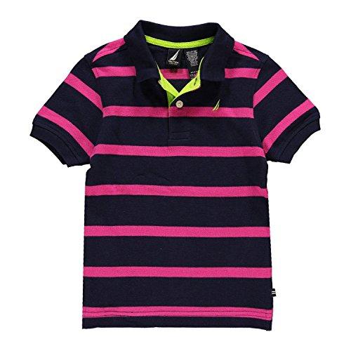 Nautica Little Boys' Stripe Polo (Navy 5/6)