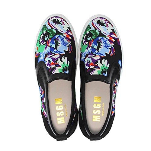 MSGM Damen Blumen Mehrfarbige Slip-On-Sneakers