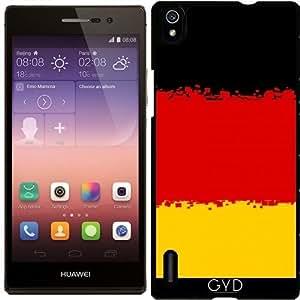 Funda para Huawei AscendP7 - Bandera ALEMANIA- 8 Bits by Cadellin