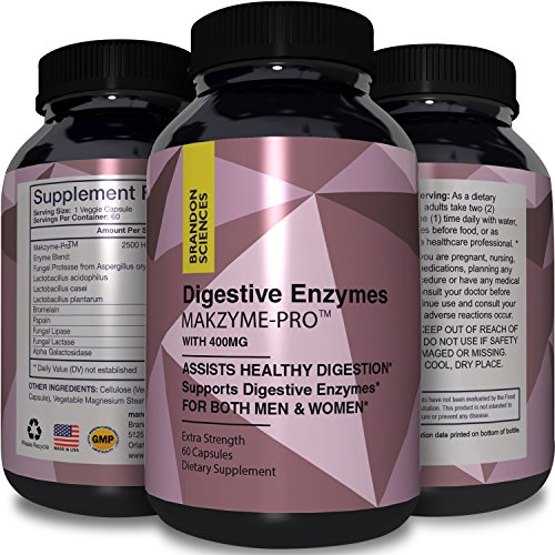 Digestive Enzymes Supplement for Men & Women - Pancreatin Digestive System Support Capsules - Amylase Lipase Protease Promotes Nutrient Absorption for Increased Energy Immunity & Weight Loss