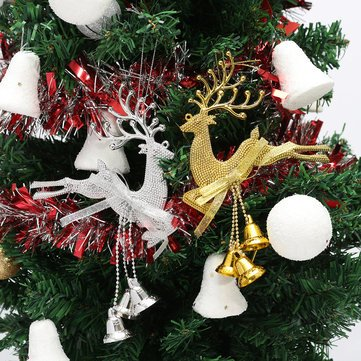 Decoration - Christmas Tree Reindeer Elk Deer Bell Ornament Pendant Xmas Party Hanging Decor - Bell Ornament - 1PCs ()
