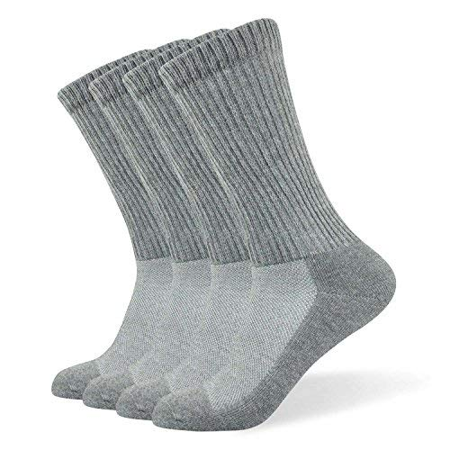 Well Knitting Men's Non-Binding Diabetic and Circulatory Extra Wide Top Coolmax Crew Socks,4 Pairs